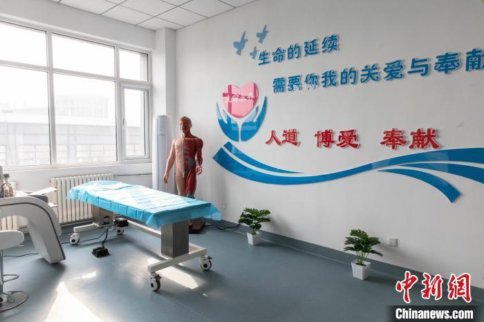 宁夏遗体和人体器官捐献与移植宣传教育中心成立。 杨迪 摄