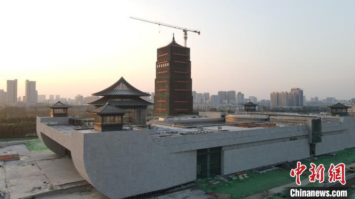 中国大运河博物馆主体建成 宛如一艘即将扬帆的航船