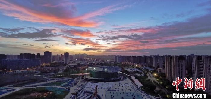 田晓2020年8月拍摄的杭州运河亚运公园。 田晓 摄