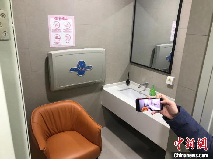 车站内的母婴室。 王子涛 摄