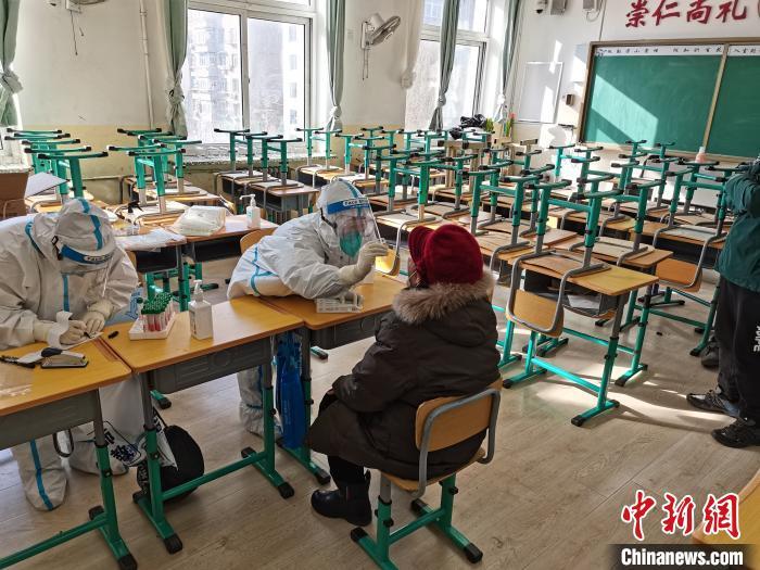 12月31日,沈阳市全员核酸检测现场。 禹瑞斋 摄