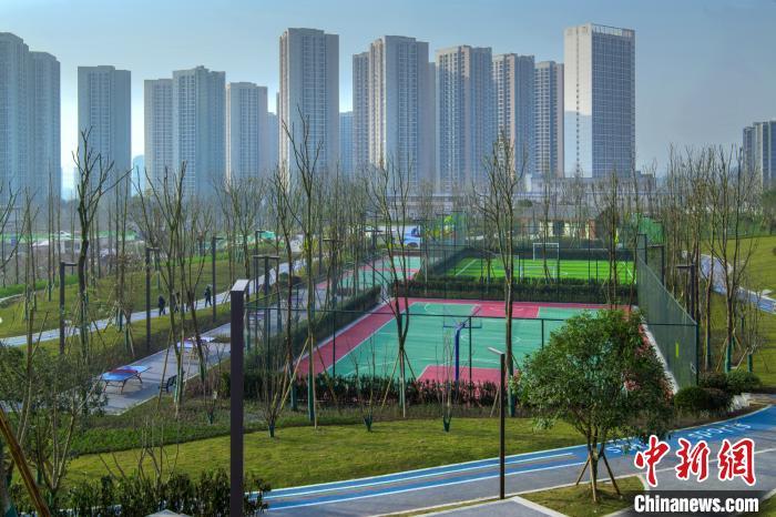 图为两江新区庙望社区体育文化公园。重庆市规划和自然资源局供图