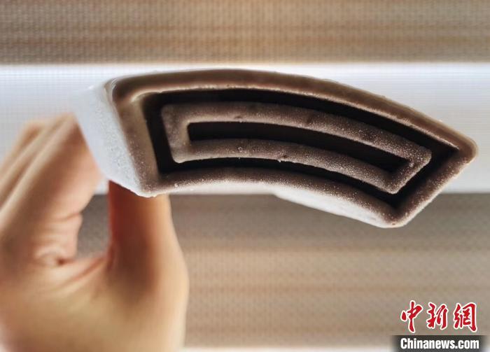 中新网记者拍摄所购买的钟薛高雪糕。 张素 摄