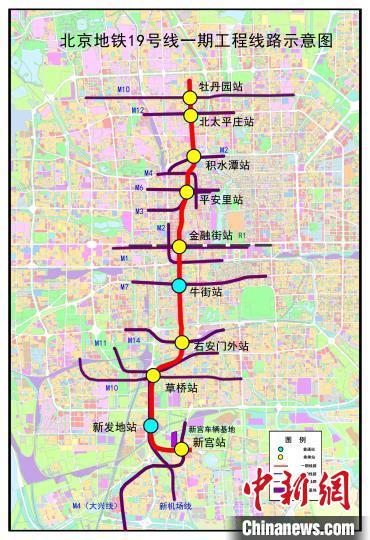 北京地铁19号线一期工程10座车站主体结构全部完工
