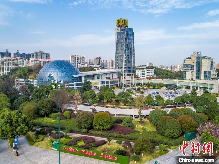 地处长株潭国家自主创新示范区核心区域的长沙经开区。(资料图) 郑骏 摄