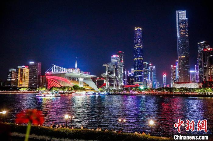 广州珠江夜景。广州市文化广电旅游局 供图 广州市文化广电旅游局 供图