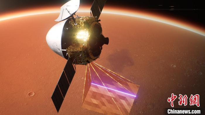 天问一号火星环绕器效果图 中国航天科技集团上海航天技术研究院 供图