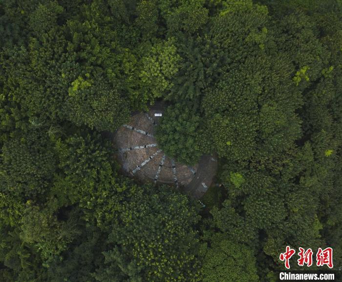 图为重庆市玉龙公园旧石器遗址。 黄维正 摄