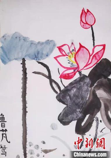 部分加拿大华裔学生的作品 安徽省侨办提供