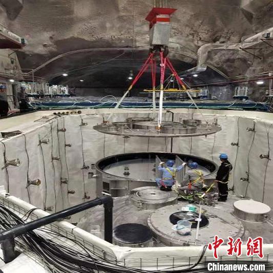 大亚湾反应堆中微子实验站撤场现场。 中科院高能所 供图