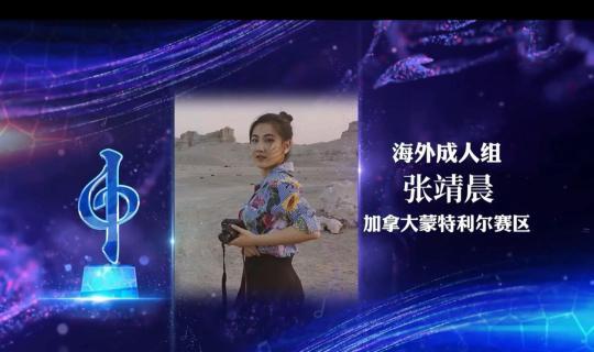 """中国侨网2021""""文化中国·水立方杯""""中文歌曲大赛海外成人组冠军张靖晨。视频截图"""