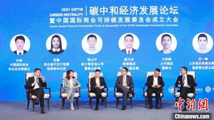 碳中和经济发展论坛暨中国国际商会可持续发展委员会成立大会5日在京举行。 供图