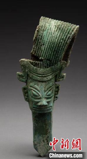 诸葛亮造型的青铜人头像。 四川省文物考古研究院供图