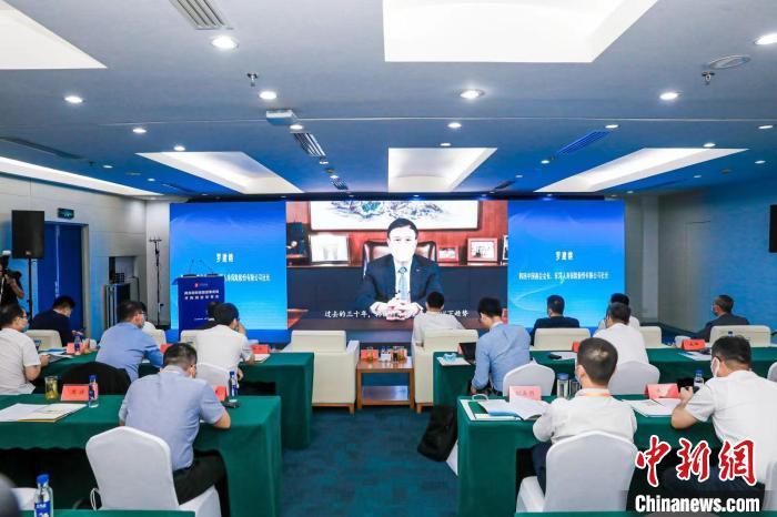 韩国中国商会会长、韩国东洋人寿保险公司社长罗建榕作主旨发言。 商务部投资促进局驻韩办供图