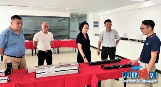 中国侨网图为走访在宁台港澳资企业。 宁德市台港澳办 供图