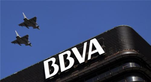 质料图片:大规模解冻旅西华人账户的西班牙BBVA银行。